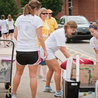 Scenes from move-in day 2012