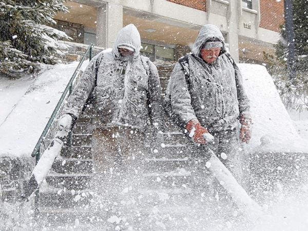 Light dusting or full-blown blizzard, snow spurs a chain of actions at Appalachian State University
