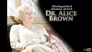 Alumni Awards 2010: Dr. Alice Brown '63 '66
