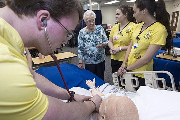 Appalachian's first health care provider, Nurse Mary S. Shook
